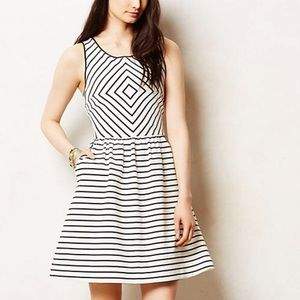 Anthropologie // Maeve Striped Fit and Flare Dress
